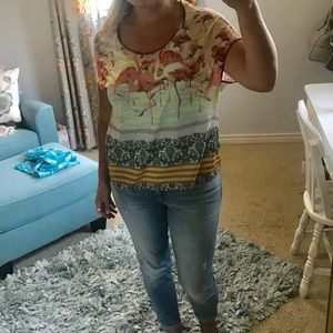 Anthropology sheer top by Dream Daily
